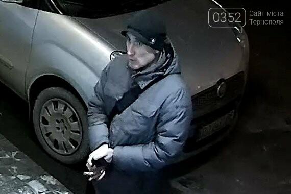 У Тернополі розшукують чоловіків, що пограбували автомобіль (фото, відео), фото-1