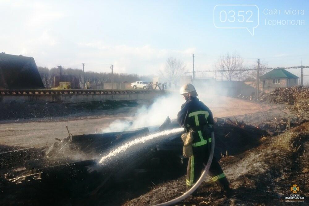 Вогонь знищив залізничні шпали на Тернопільщині (фото), фото-1