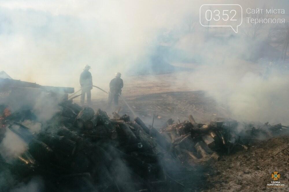 Вогонь знищив залізничні шпали на Тернопільщині (фото), фото-2