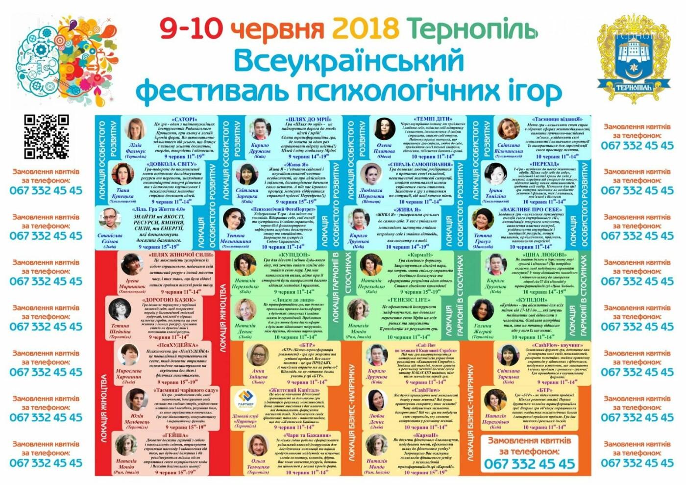 У Тернополі відбудеться Всеукраїнський фестиваль психологічних ігор, фото-1