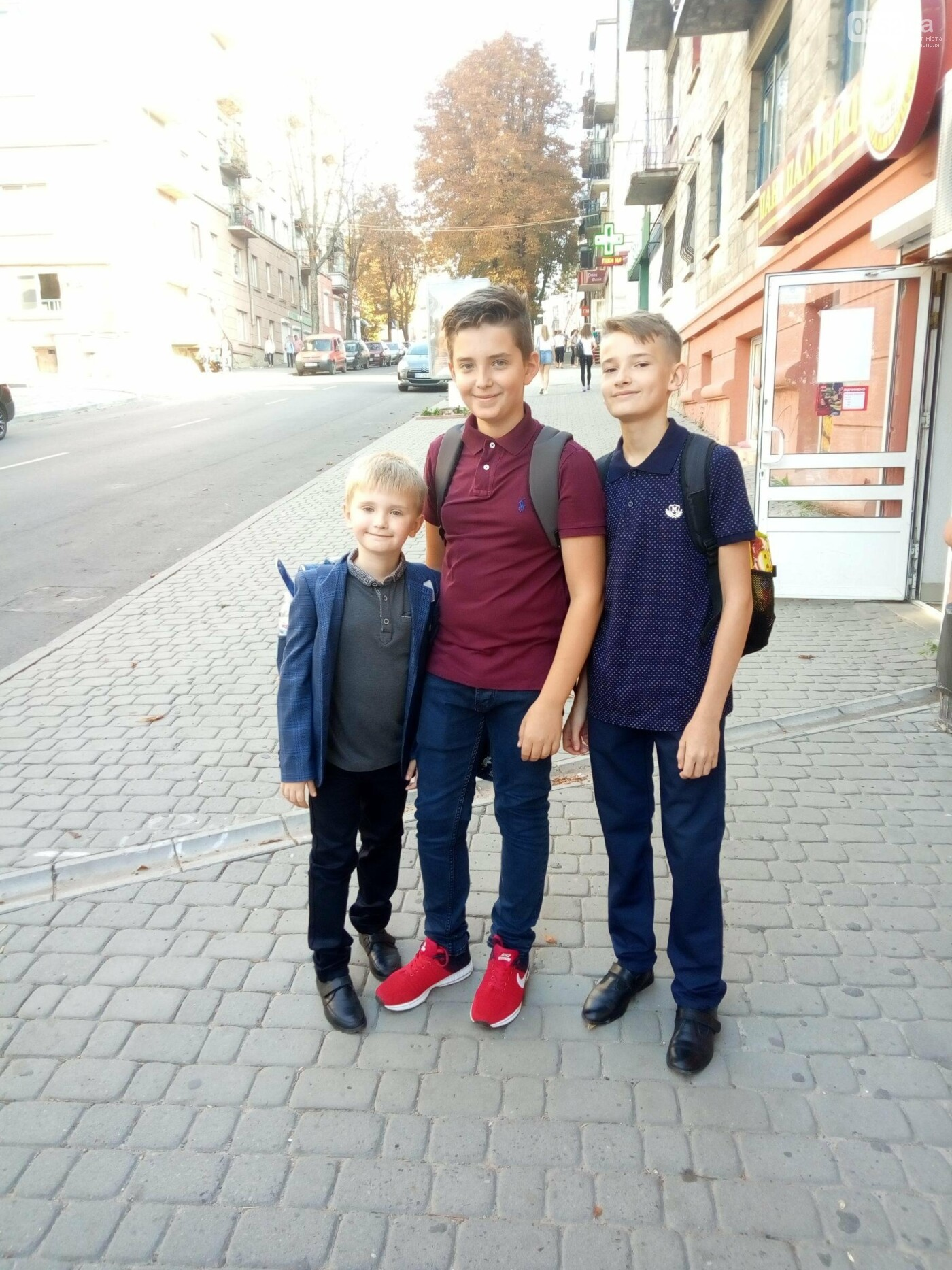 Максим, Денис та Володимир, 2, 8 і 7 класи