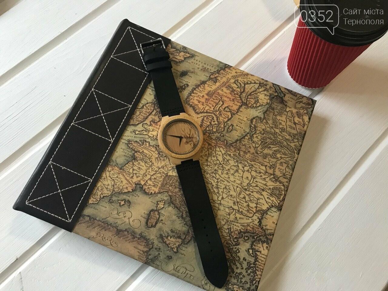 Найкращий подарунок! Наручний годинник зі 100% натуральної деревини, фото-1