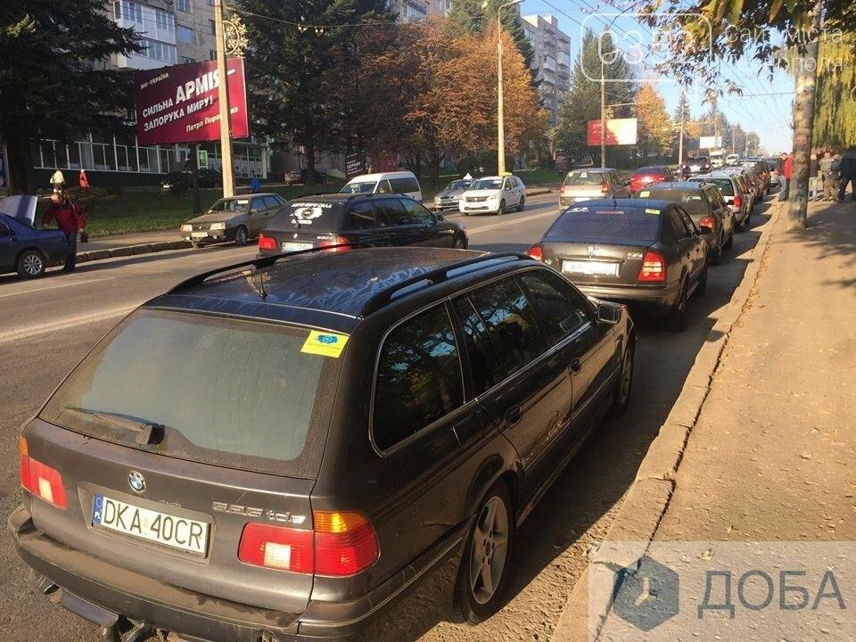 У Тернополі на «паливний» страйк виїхали водії, поблизу Збаразького кільця ускладнених рух транспорту (ФОТО, ВІДЕО), фото-2