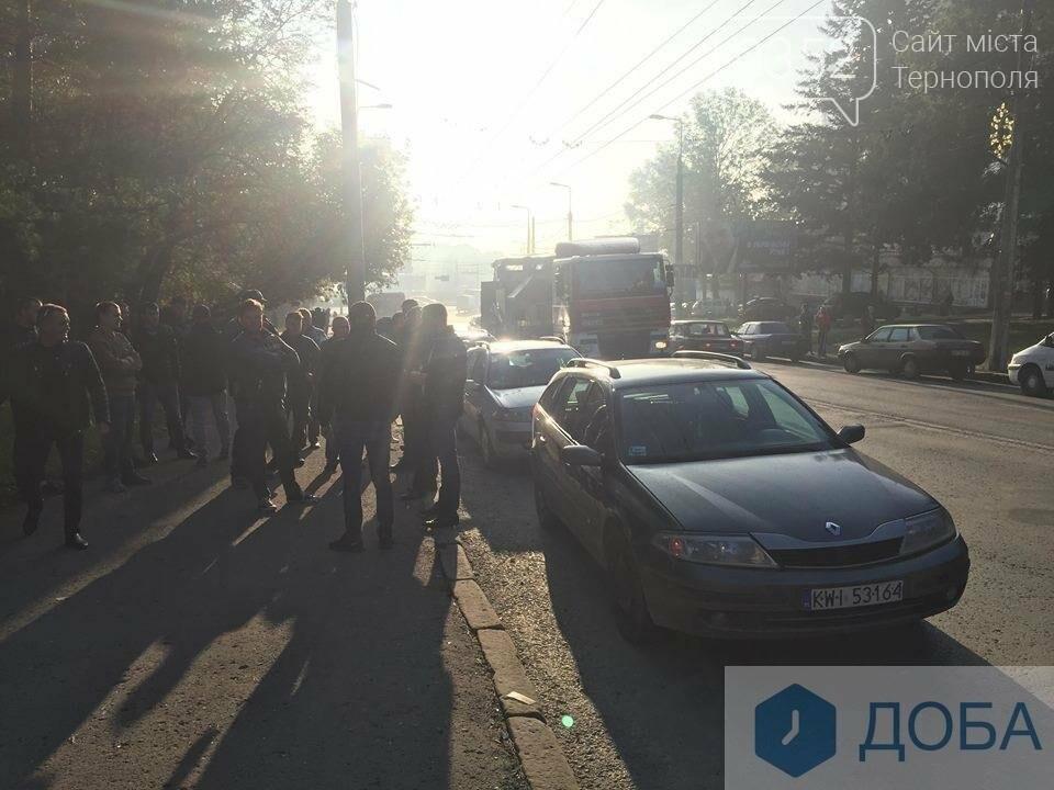 У Тернополі на «паливний» страйк виїхали водії, поблизу Збаразького кільця ускладнених рух транспорту (ФОТО, ВІДЕО), фото-1