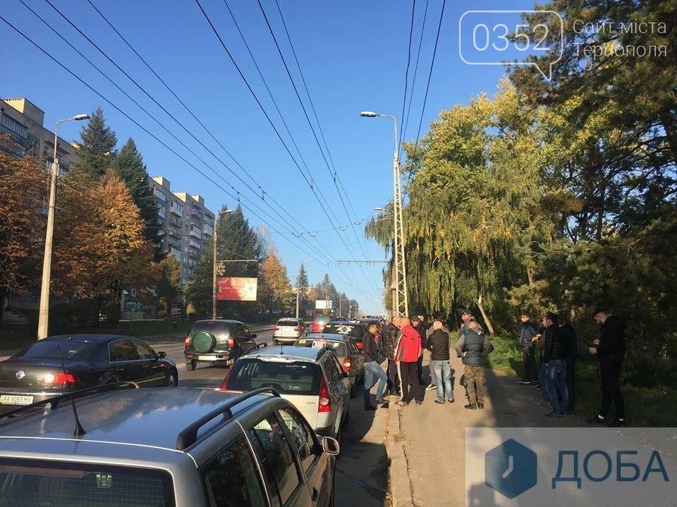 У Тернополі на «паливний» страйк виїхали водії, поблизу Збаразького кільця ускладнених рух транспорту (ФОТО, ВІДЕО), фото-3