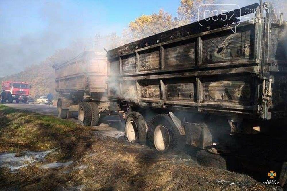 На Тернопільщині вщент згоріла вантажівка (фото), фото-2