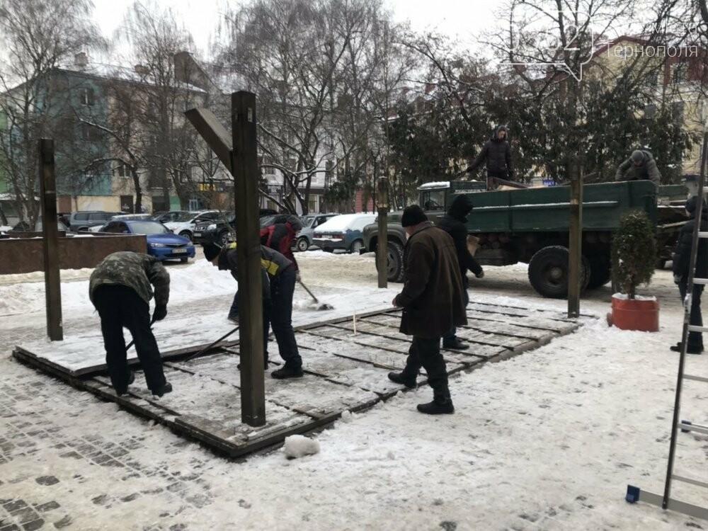 На Сагайдачного у Тернополі демонтували літній майданчик (фото), фото-2