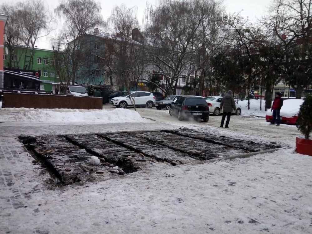 На Сагайдачного у Тернополі демонтували літній майданчик (фото), фото-3