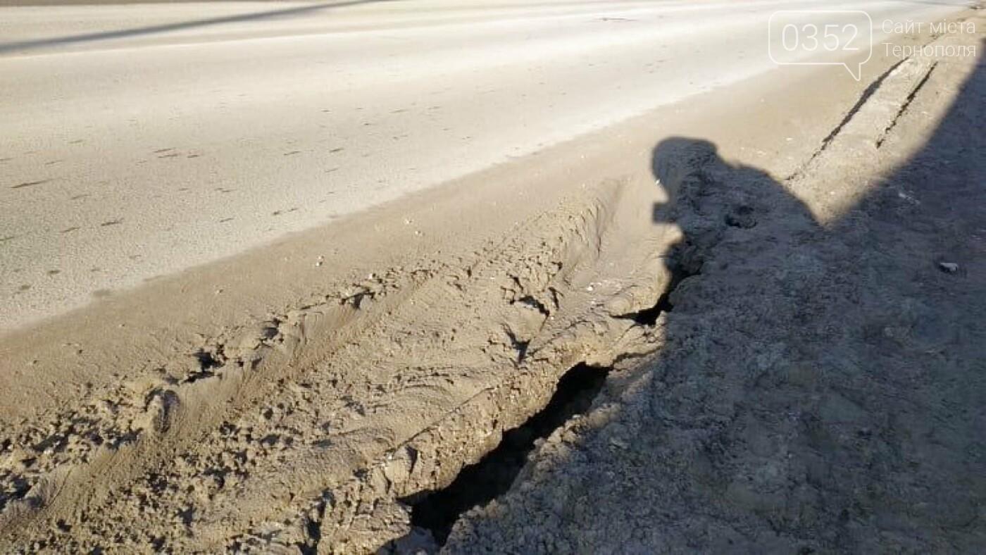 """""""В тріщину може пролізти нога"""": стан тротуару в Тернополі на Збаразькій жахає (Фото), фото-2"""