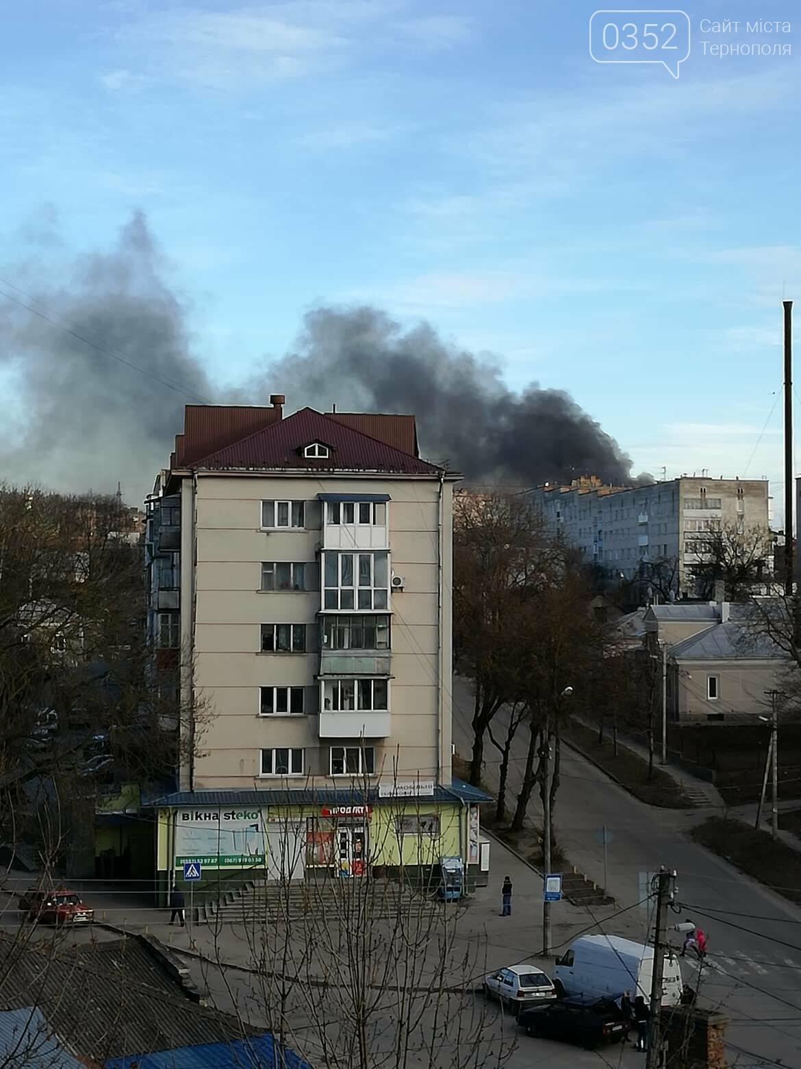 У Тернополі на Східному спалахнула пожежа: дим над містом було видно за багато кілометрів (ФОТОФАКТ, ВІДЕО), фото-1