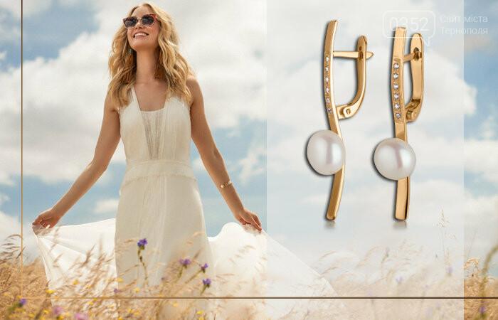 Золоті сережки з перлами - витончена класика, фото-2