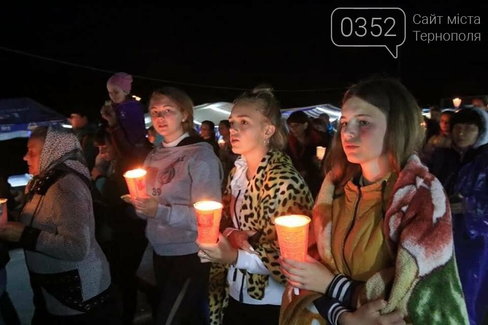 У мережі показали неймовірне відео походу зі свічками на Всеукраїнській прощі на Тернопільщині (ВІДЕО), фото-3