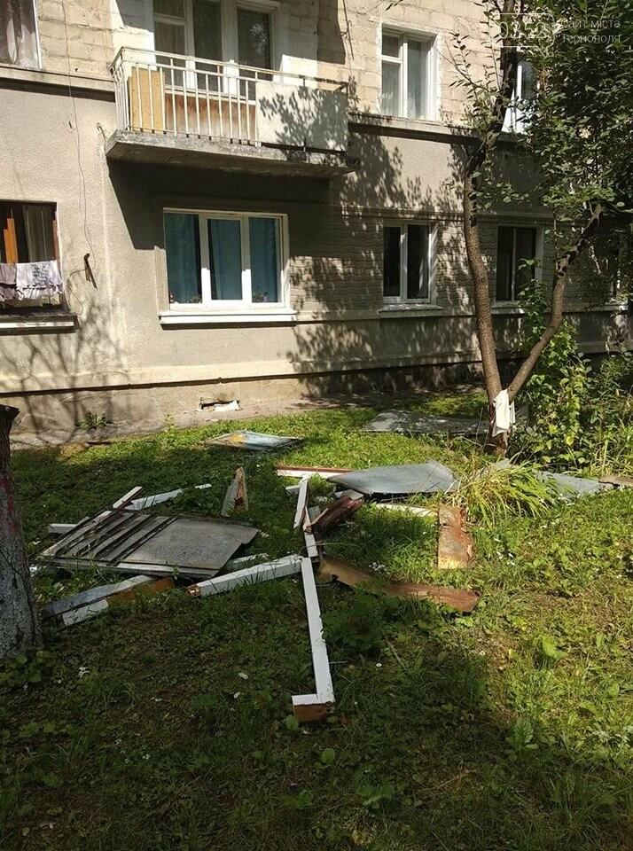 У Тернополі зафіксували падіння балкону (фото), фото-1