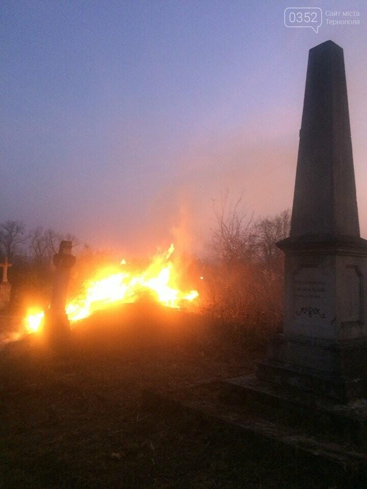 На Тернопільщині через паліїв сухої трави загорілося кладовище (ФОТОФАКТ), фото-2
