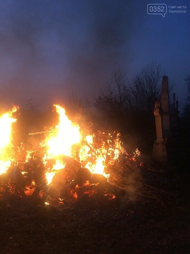 На Тернопільщині через паліїв сухої трави загорілося кладовище (ФОТОФАКТ), фото-1