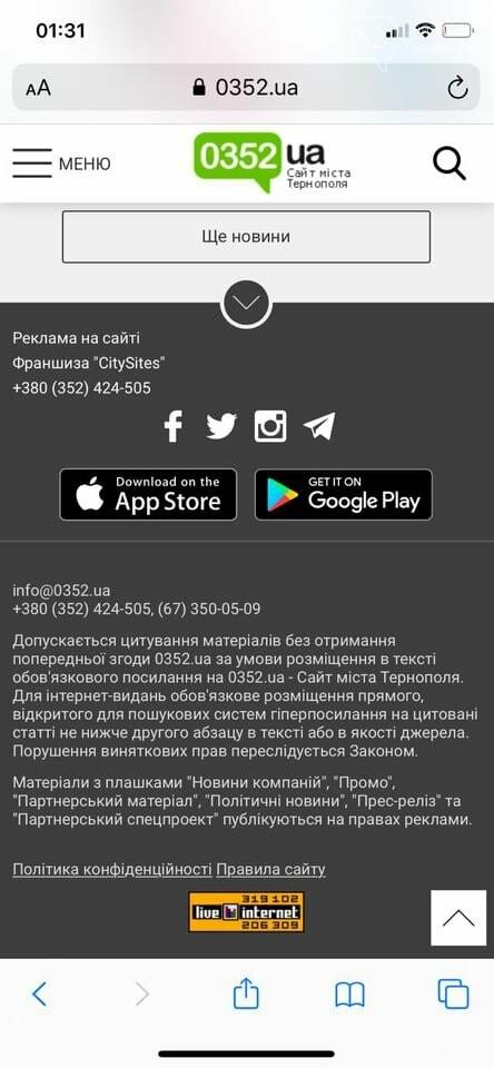 Який місцевий сайт найбільше читають в Тернополі?, фото-1