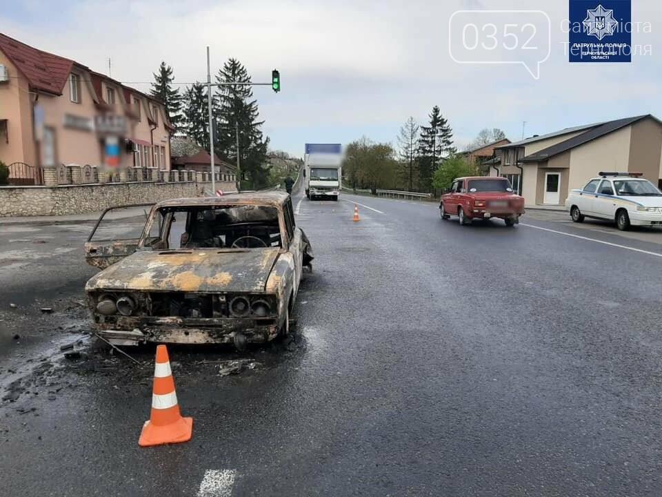 """Жахлива ДТП на Тернопільщині: через зіткнення автомобіль перетворився у """"факел"""", водія дивом врятували (ФОТО), фото-2"""