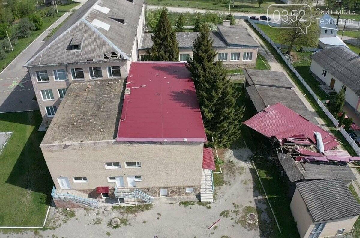 На Тернопільщині сильний вітер зірвав дах зі школи (ФОТО), фото-2
