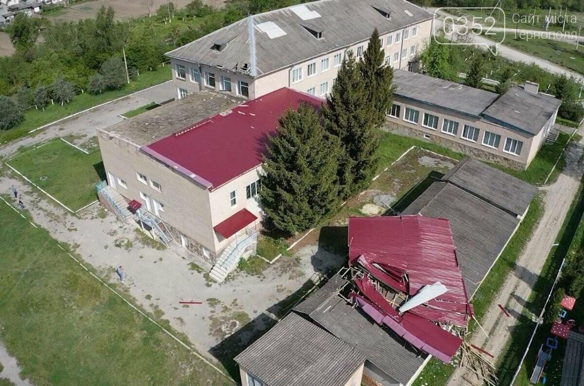 На Тернопільщині сильний вітер зірвав дах зі школи (ФОТО), фото-3