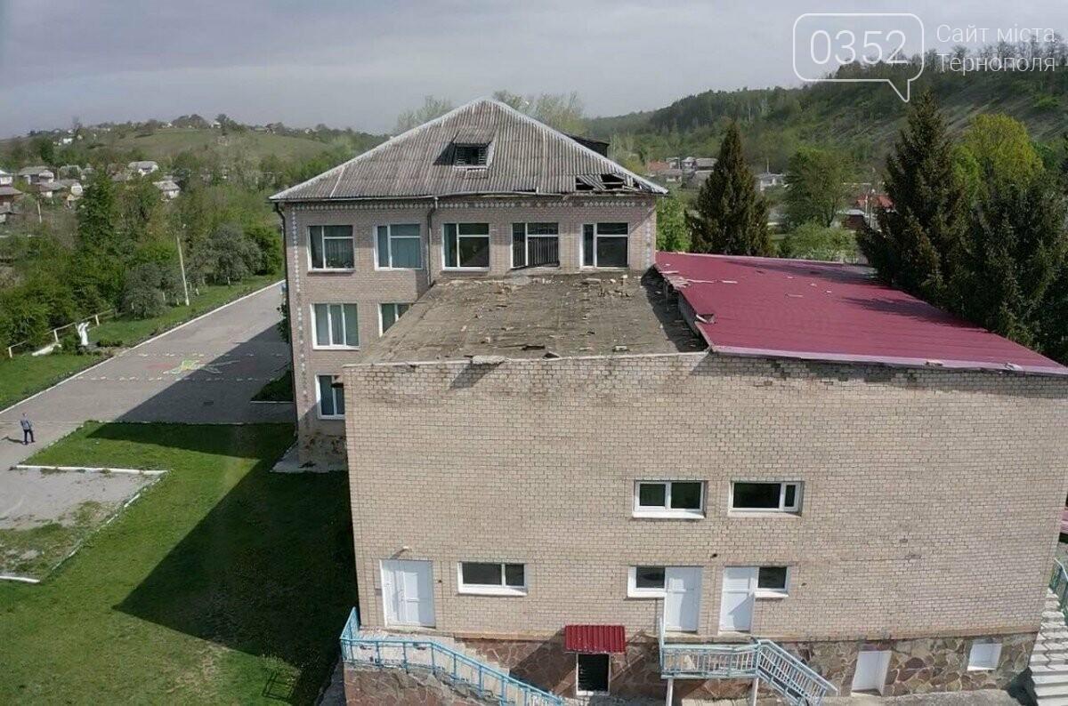На Тернопільщині сильний вітер зірвав дах зі школи (ФОТО), фото-1
