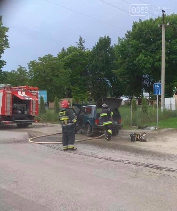На Тернопіллі поблизу АЗС загорілась машина (ФОТО), фото-1