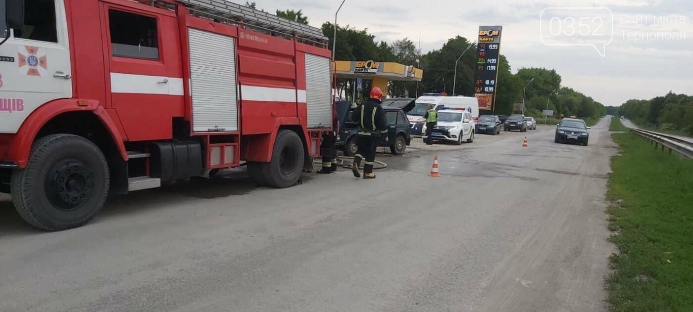На Тернопіллі поблизу АЗС загорілась машина (ФОТО), фото-4