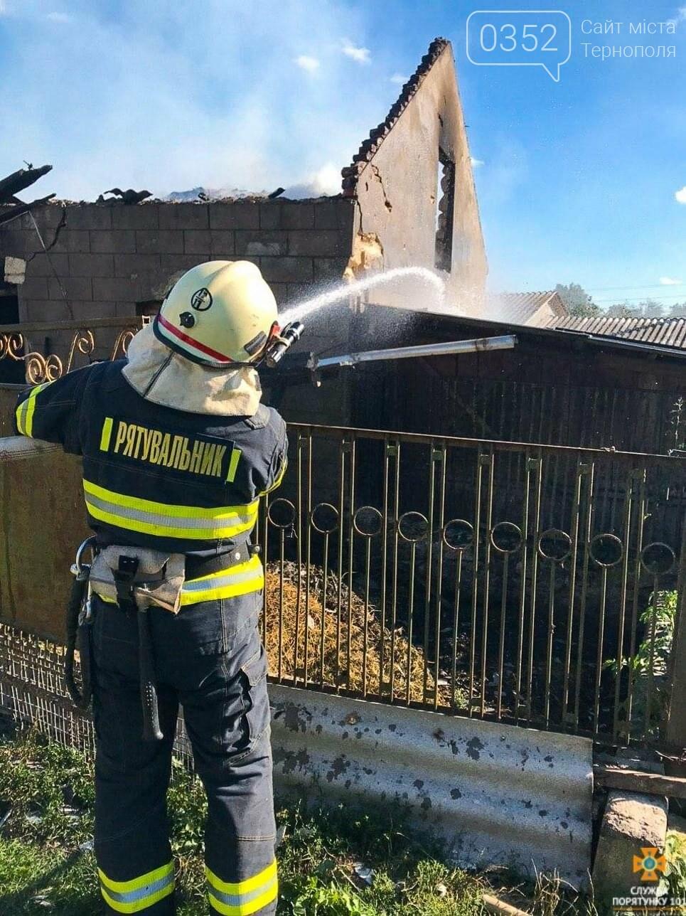 Через пожежу на Тернопільщині згоріла господарська будівля та тони пшениці і ячменю (ФОТО), фото-4