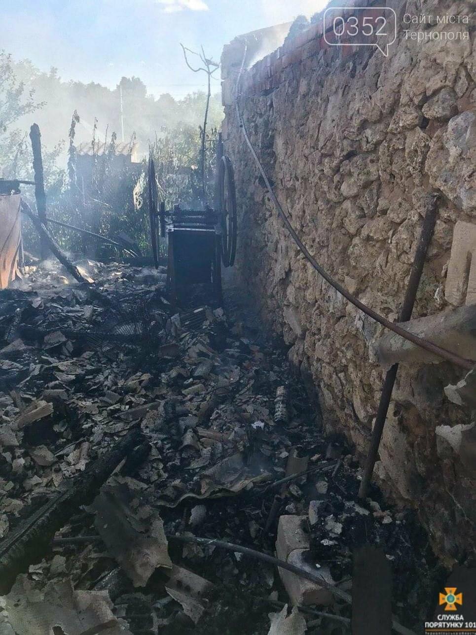 Через пожежу на Тернопільщині згоріла господарська будівля та тони пшениці і ячменю (ФОТО), фото-6