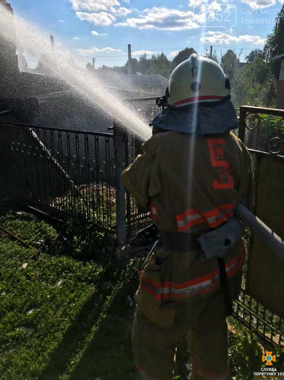 Через пожежу на Тернопільщині згоріла господарська будівля та тони пшениці і ячменю (ФОТО), фото-1