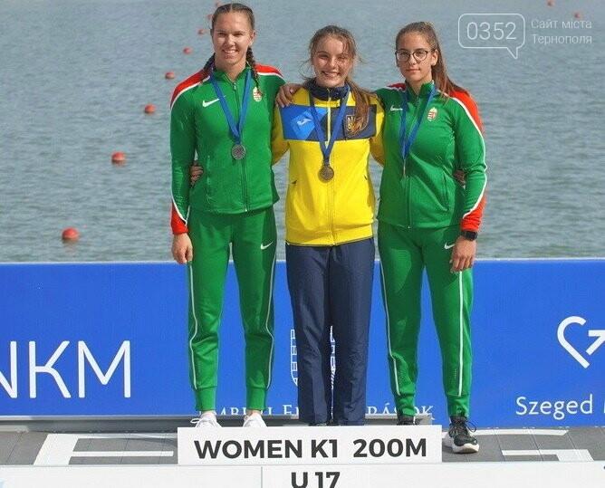 """Дві золоті та бронзову нагороди завоювала тернопільська веслувальниця на міжнародній регаті """"Олімпійські надії"""" (ФОТО), фото-1"""