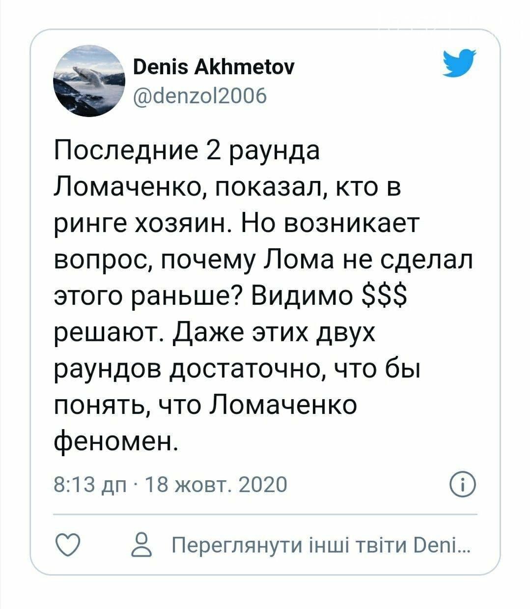 """""""Більше хрестився, ніж бив"""": після поразки Лопесу Ломаченко потрапив під критику вболівальників, фото-8"""