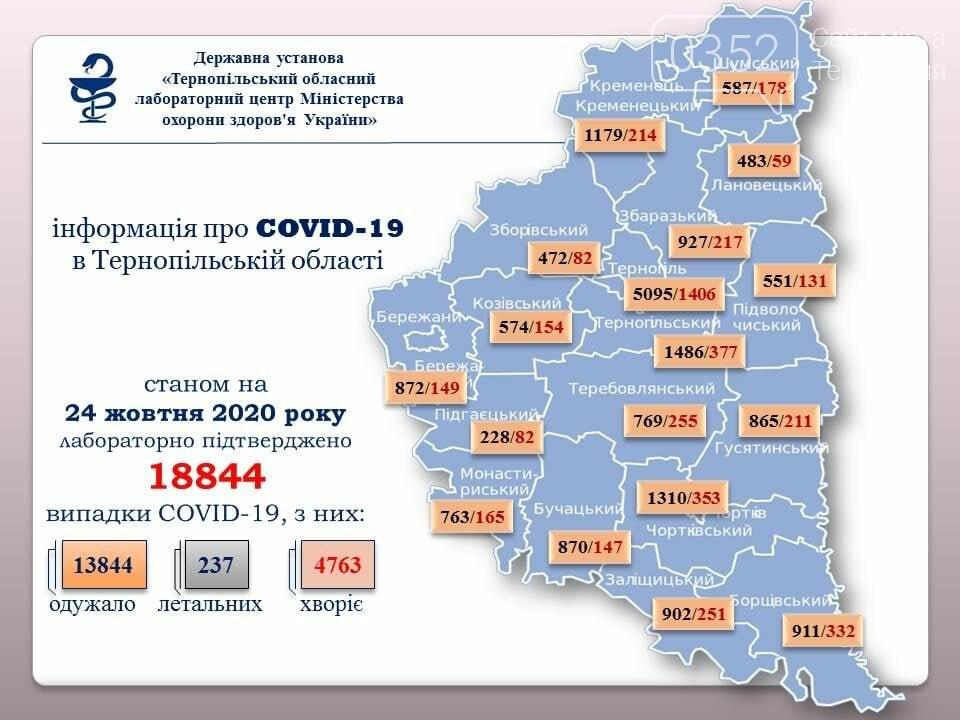Ще 234 людини захворіли на коронавірус на Тернопільщині, фото-1