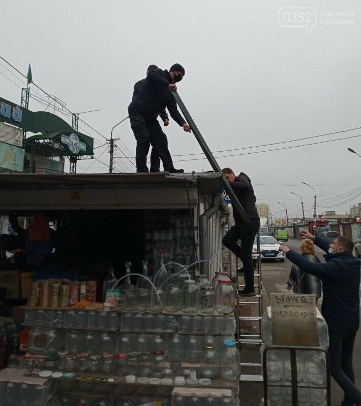 У Тернополі демонтують незаконно встановлений кіоск (ФОТО), фото-2