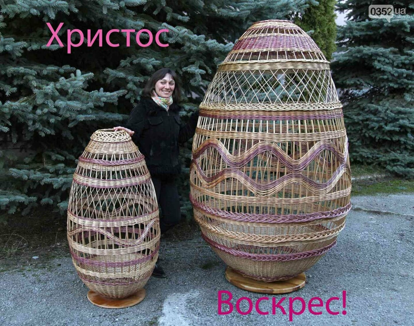 Майстриня з Тернопільщини сплела із лози п'ять гігантських кошиків, висотою по два метри (ФОТО) , фото-4