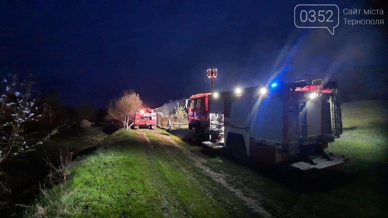 Пожежа у Монастириськах : вночі спалахнув житловий будинок, фото-1