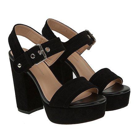 477ff8d06cade2 Босоніжки жіночі Vensi (чорного кольору, на високих підборах і платформі,  модні)
