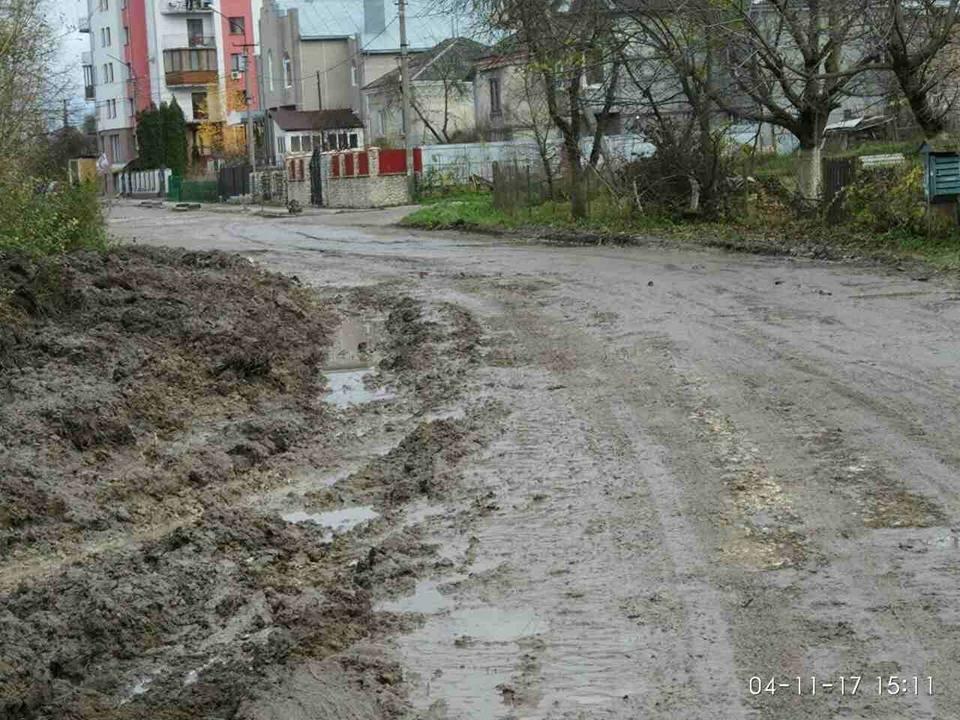 """""""Щодня у болоті"""": тернополяни нарікають, що через будови в припарковій зоні їхня вулиця перетворилася на місиво бруду (Фото, відео), фото-3"""