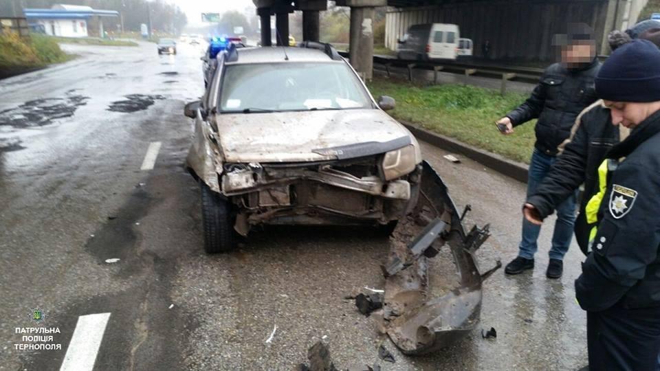 У Тернополі на Микулинецькій аварія: зіштовхнулись джип та КамАЗ (ФОТО), фото-2