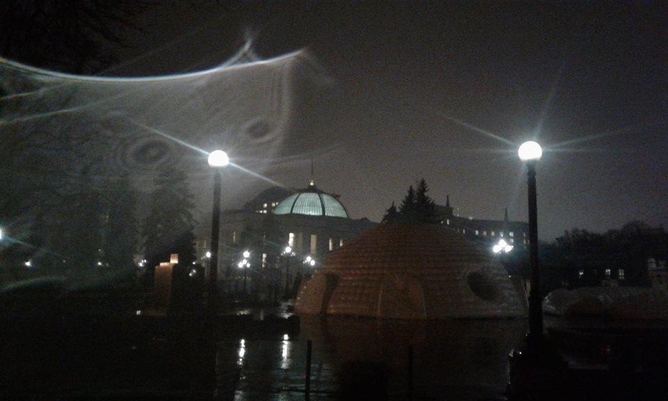 Тернополянин зробив фото містичного явища неподалік Верховної Ради (фото), фото-2