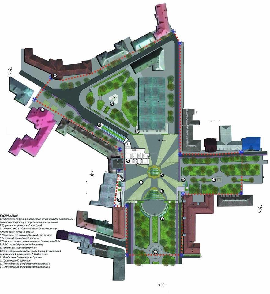 Під Театральним майданом пропонують збудувати торговий центр та паркінг (фото, відео), фото-2