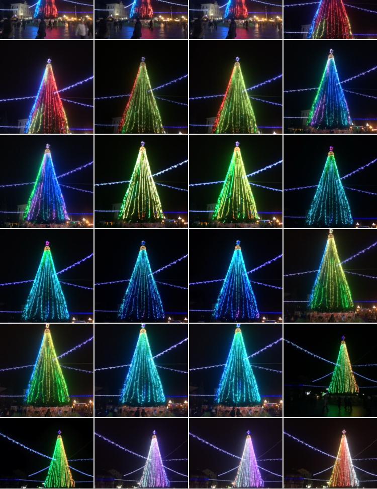 Головна ялинка Тернополя має незвичну 3D-ілюмінацію (фото, відео), фото-1