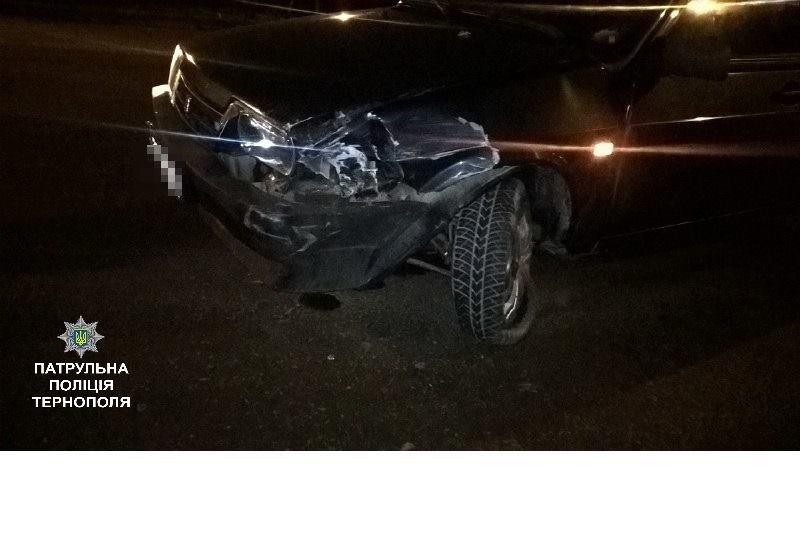 У Тернополі вщент п'яний водій спричинив ДТП (фото), фото-1