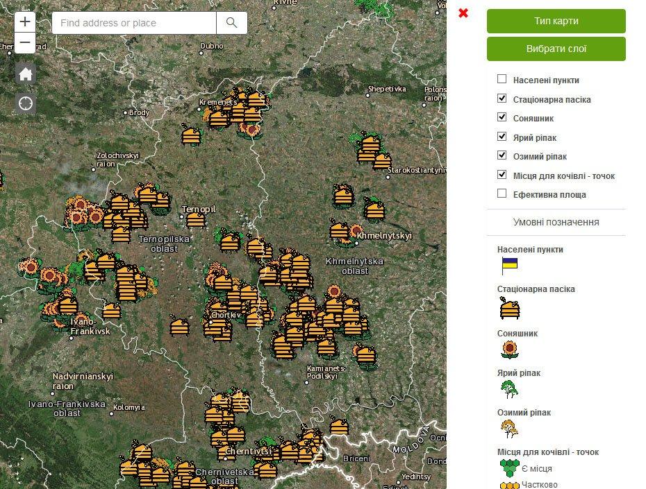 Інтерактивна карта медодайних культур