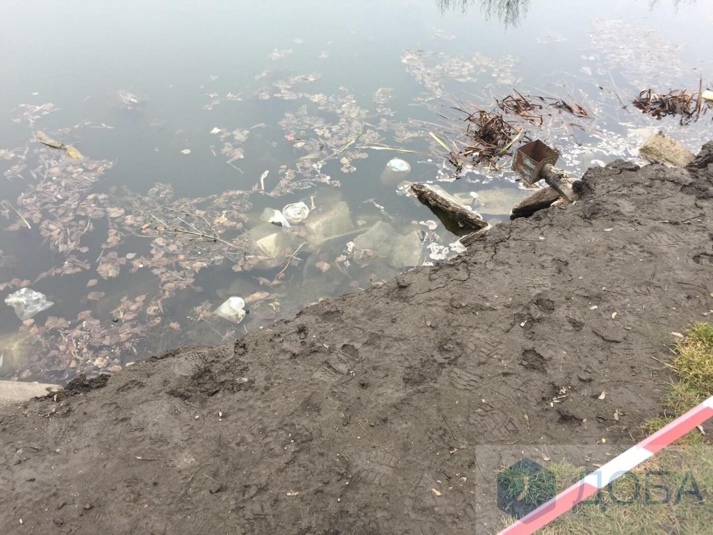"""У Тернополі частина підпірної стінки біля острівка """"Чайка"""" провалилась у воду (фото), фото-3"""