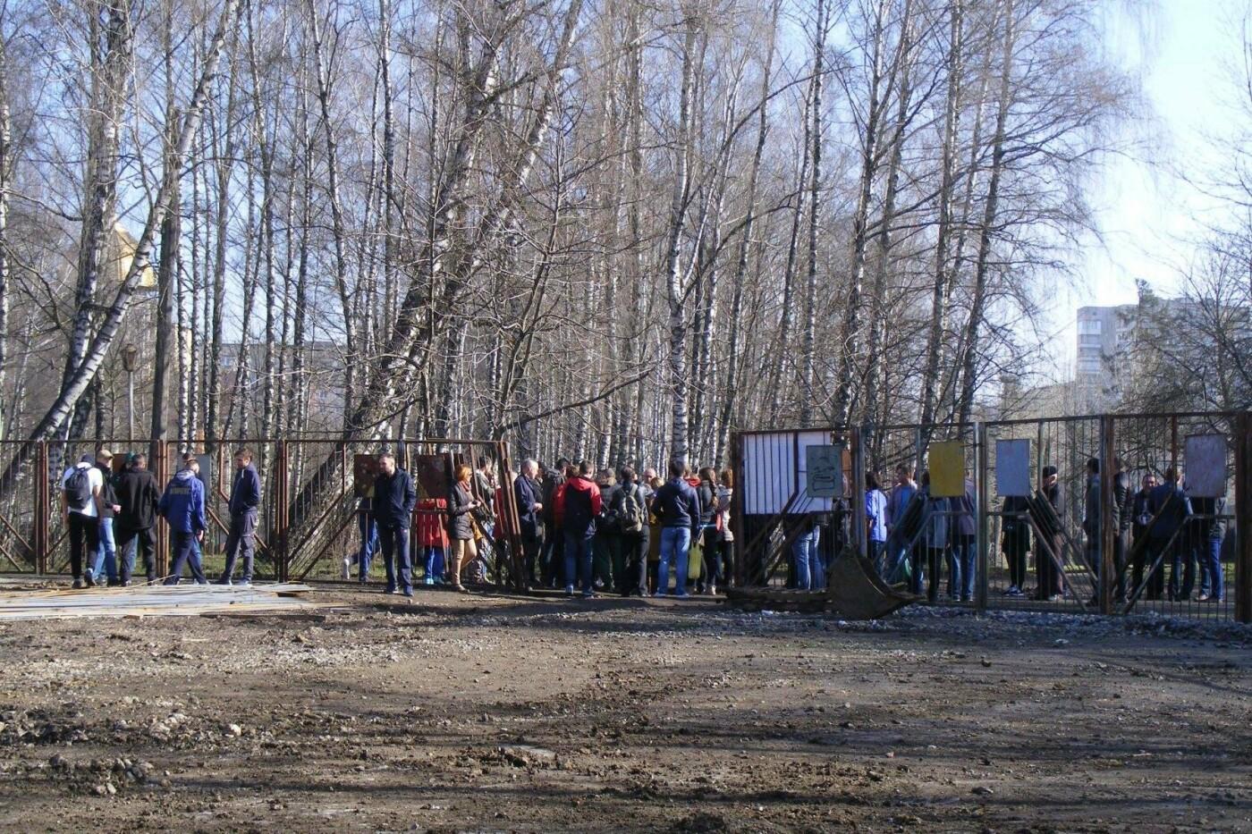 Активісти вкотре зупинили будівництво у парку Національного відродження (Фото), фото-3