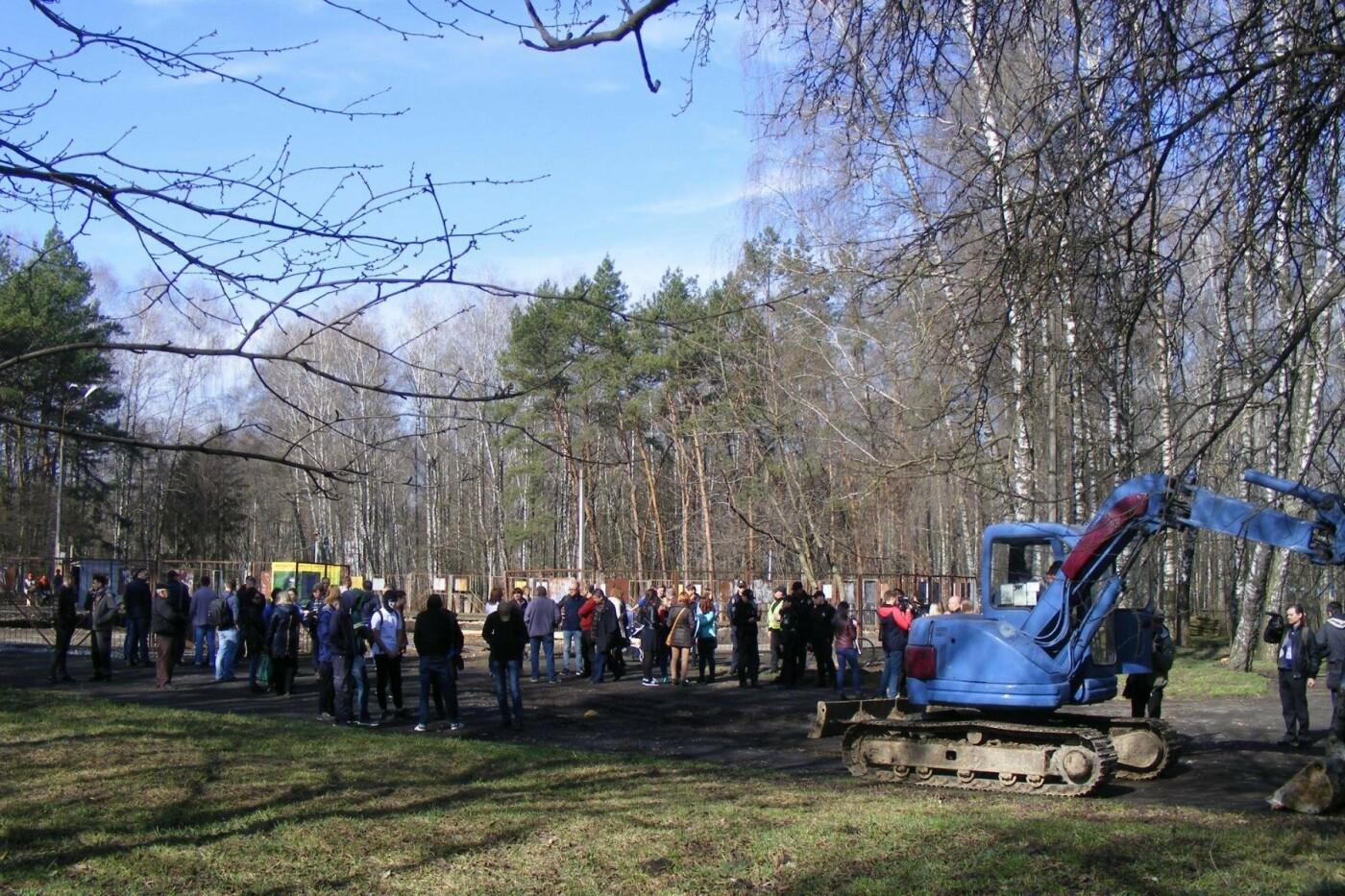 Активісти вкотре зупинили будівництво у парку Національного відродження (Фото), фото-4