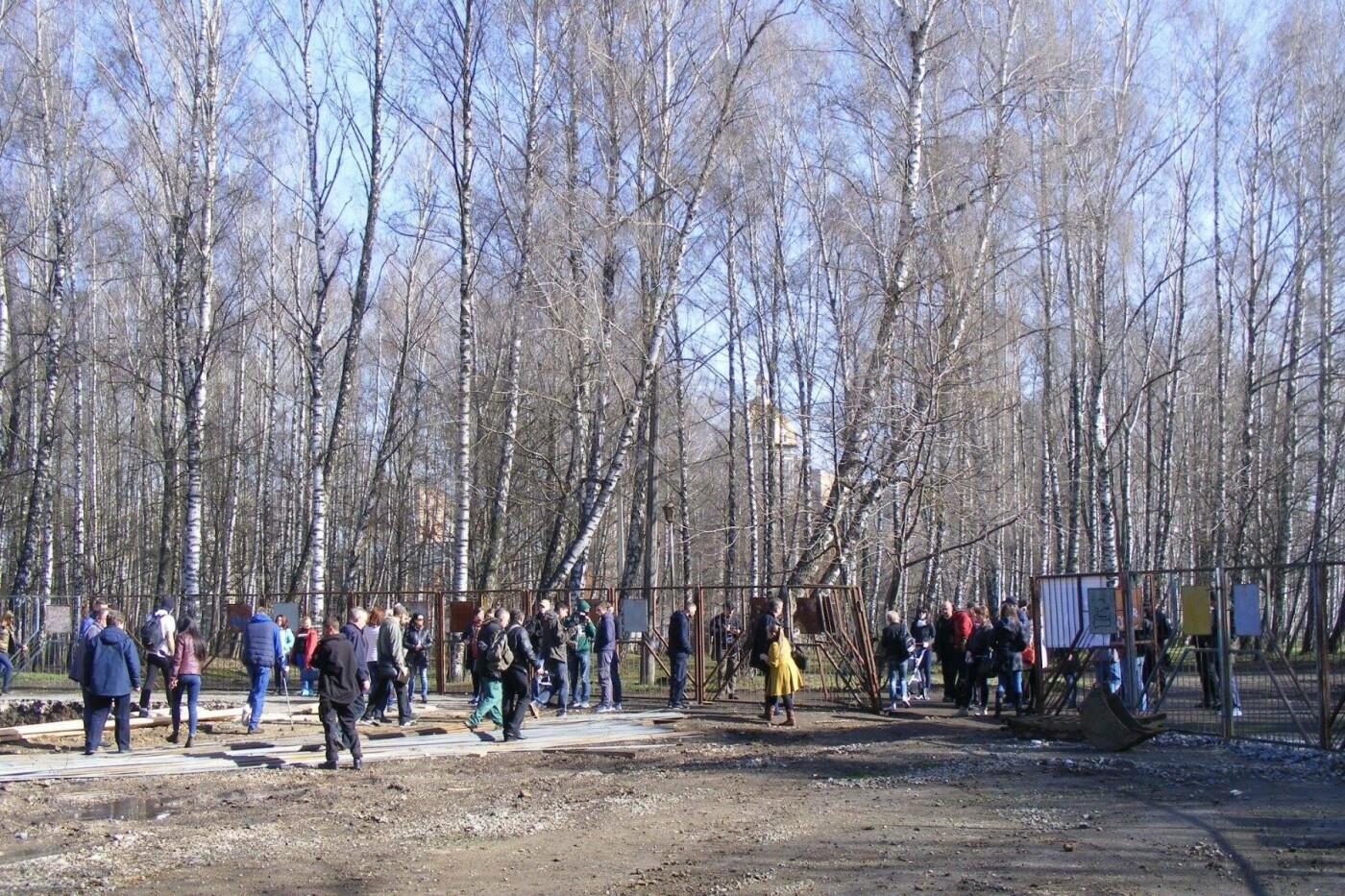 Активісти вкотре зупинили будівництво у парку Національного відродження (Фото), фото-6