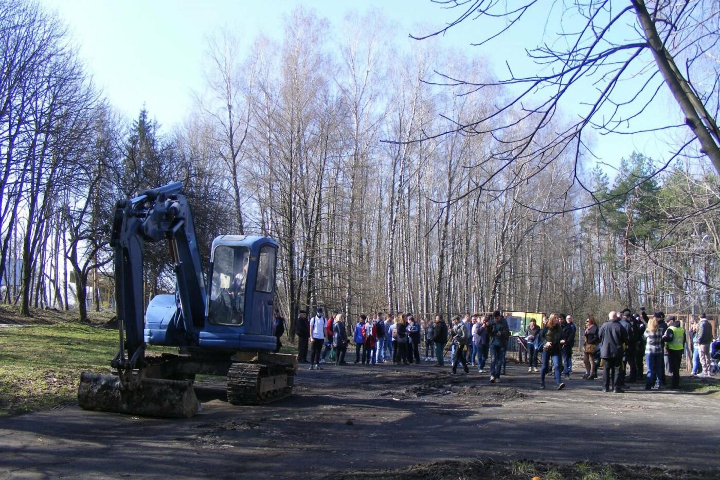Активісти вкотре зупинили будівництво у парку Національного відродження (Фото), фото-5