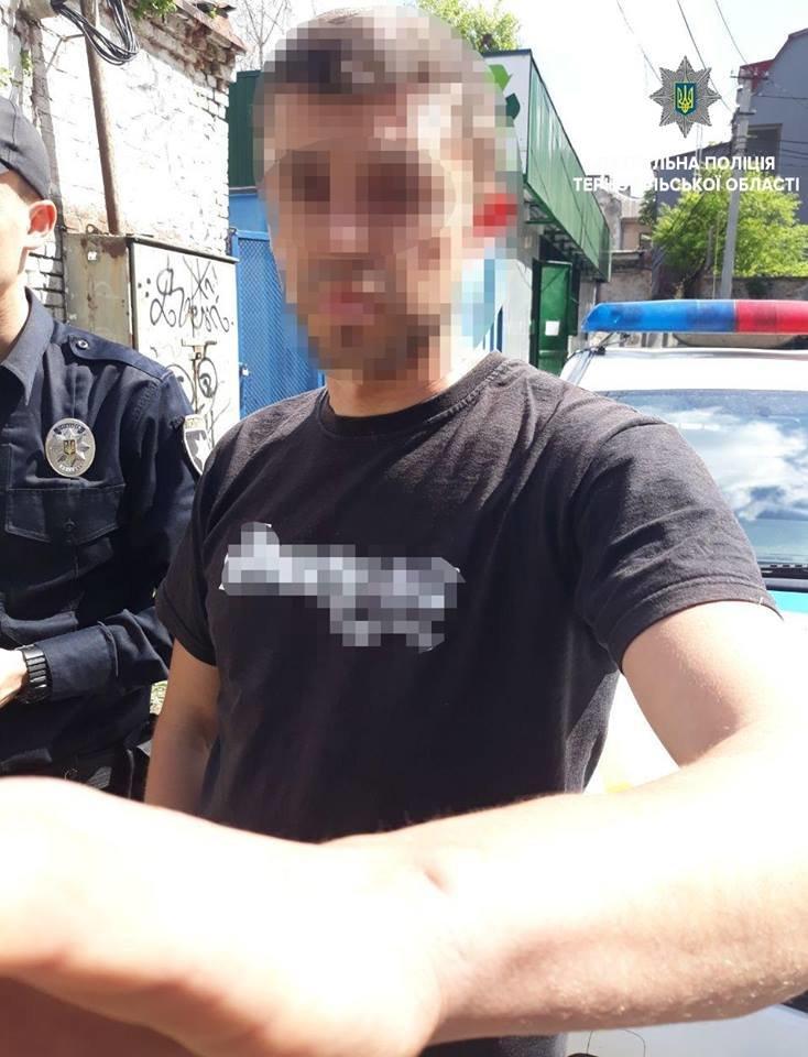 Збоченця, який лякав перехожих в центрі Тернополя, затримали і оштрафували (фото), фото-1