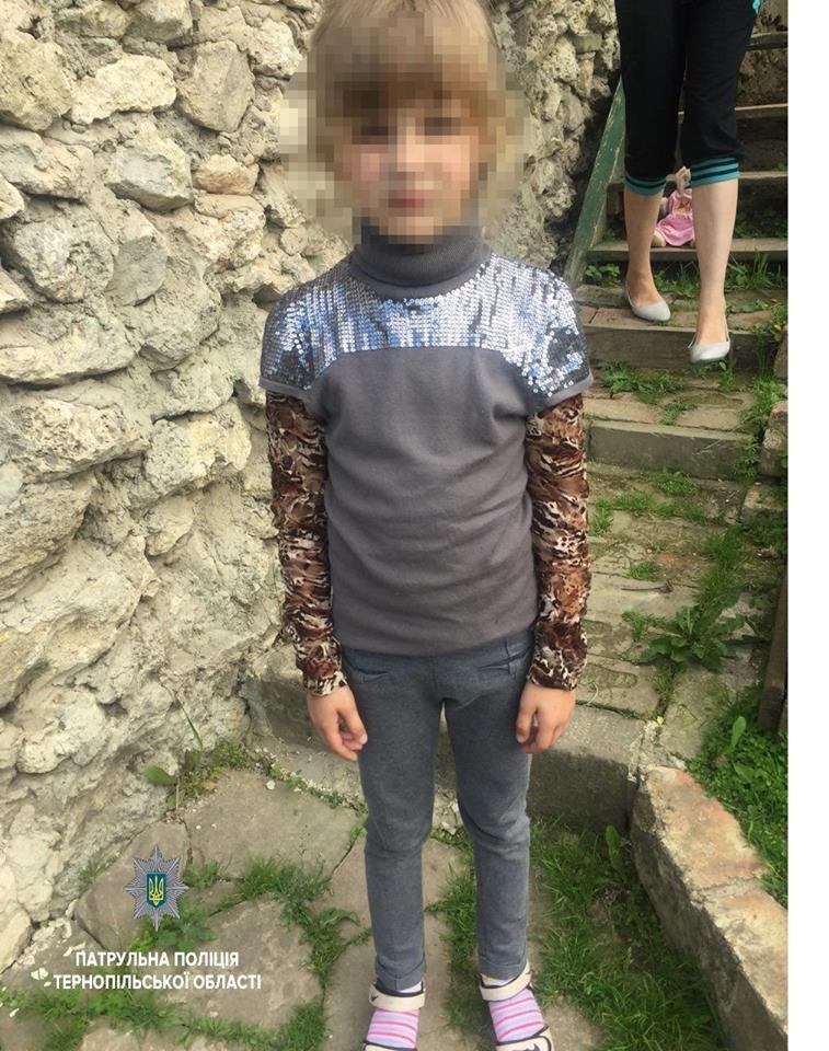 У Тернополі патрульні допомогли 7-річній дівчинці повернутись додому (фото), фото-1
